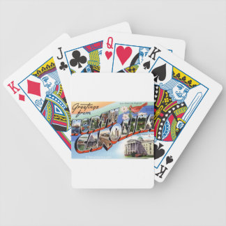 Greetings From North Carolina Bicycle Playing Cards