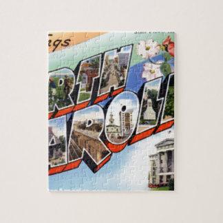 Greetings From North Carolina Jigsaw Puzzle