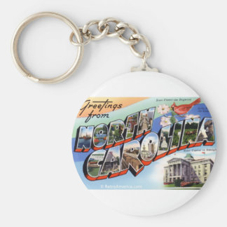 Greetings From North Carolina Keychain