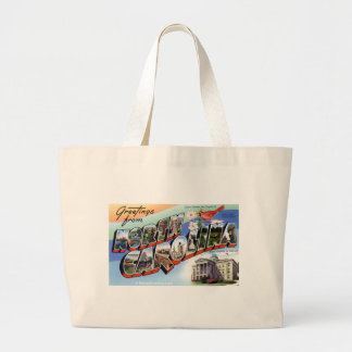 Greetings From North Carolina Large Tote Bag
