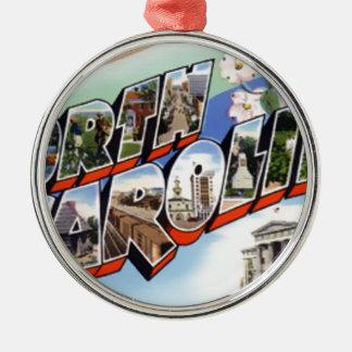 Greetings From North Carolina Metal Ornament