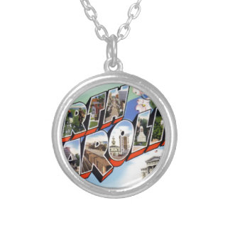 Greetings From North Carolina Silver Plated Necklace