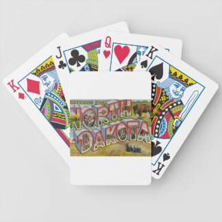 Greetings From North Dakota Bicycle Playing Cards