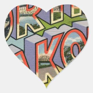 Greetings From North Dakota Heart Sticker