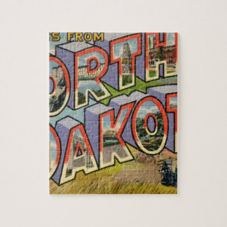 Greetings From North Dakota Jigsaw Puzzle