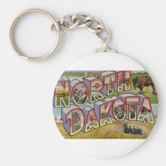 Greetings From North Dakota Keychain