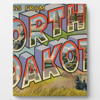 Greetings From North Dakota Plaque