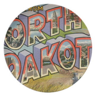 Greetings From North Dakota Plate
