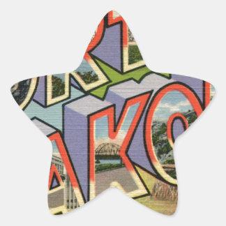 Greetings From North Dakota Star Sticker