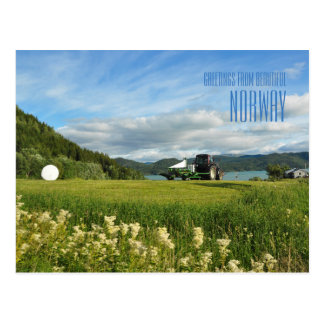 Greetings from Norway summer photo card