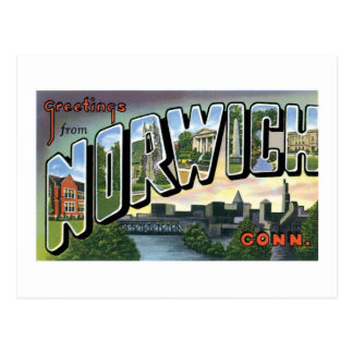 Greetings from Norwich, Connecticut! Postcard