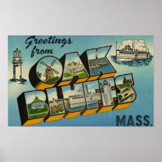 Greetings from Oak Bluffs Massachusetts Poster