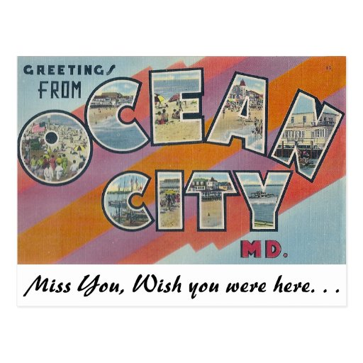 Greetings from Ocean City, Maryland Post Cards