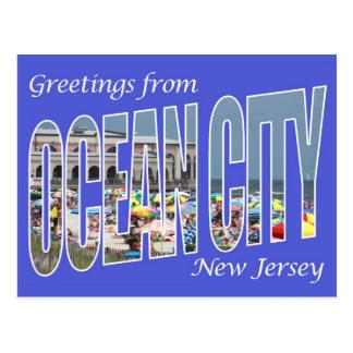 Greetings from Ocean City Postcard