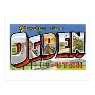 Greetings from Ogden, Utah! Retro Post Card