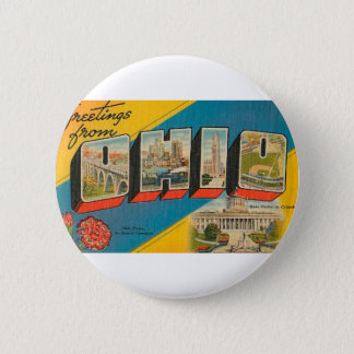 Greetings From Ohio 2 Inch Round Button