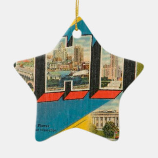 Greetings From Ohio Ceramic Ornament