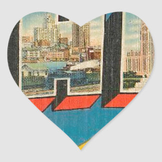 Greetings From Ohio Heart Sticker