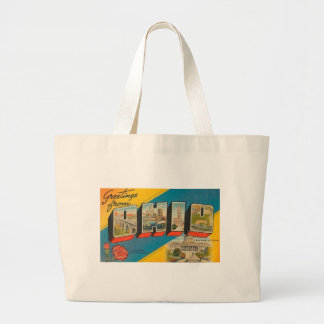 Greetings From Ohio Large Tote Bag