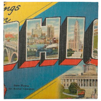 Greetings From Ohio Napkin