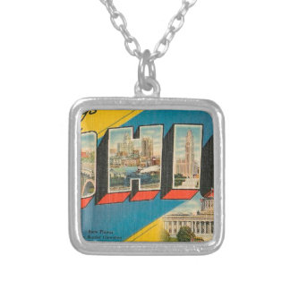 Greetings From Ohio Silver Plated Necklace
