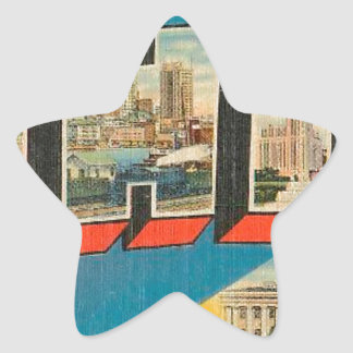 Greetings From Ohio Star Sticker