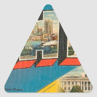 Greetings From Ohio Triangle Sticker