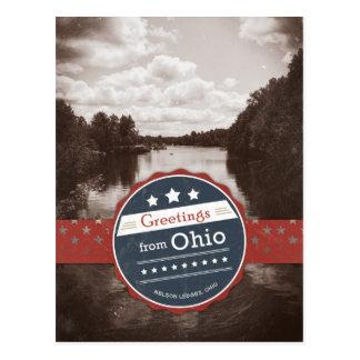 Greetings from Ohio - Vintage Postcard