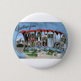 Greetings From Oklahoma 2 Inch Round Button