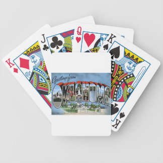 Greetings From Oklahoma Bicycle Playing Cards