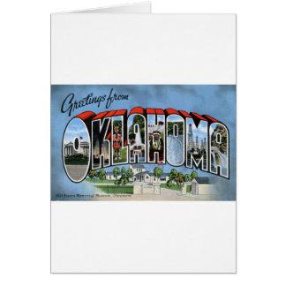 Greetings From Oklahoma Card