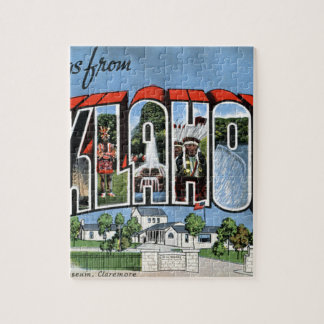 Greetings From Oklahoma Jigsaw Puzzle