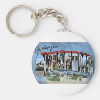 Greetings From Oklahoma Keychain