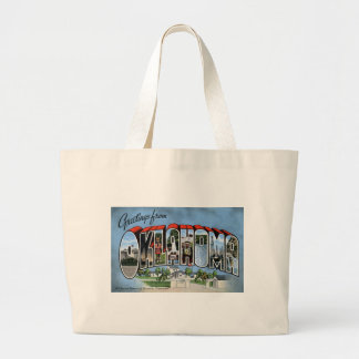Greetings From Oklahoma Large Tote Bag