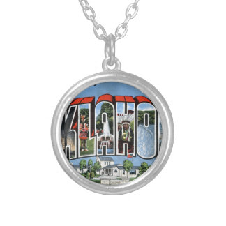 Greetings From Oklahoma Silver Plated Necklace