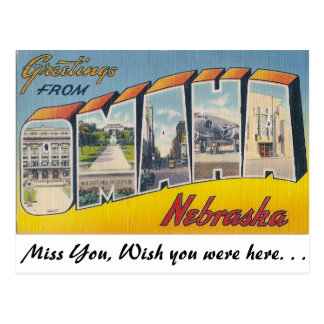 Greetings from Omaha, Nebraska Postcard