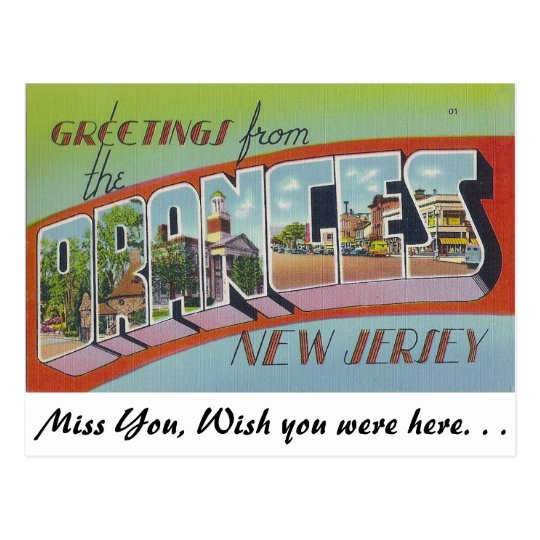 Greetings from Oranges, New Jersey Postcard