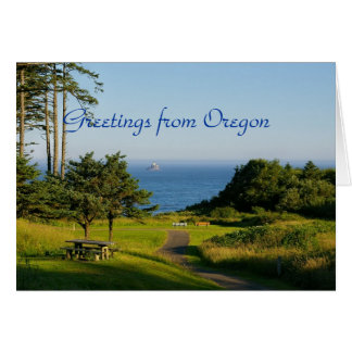 Greetings from Oregon Card