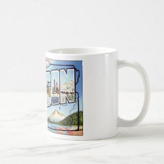 Greetings From Oregon Coffee Mug