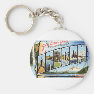 Greetings From Oregon Keychain