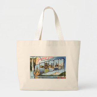 Greetings From Oregon Large Tote Bag