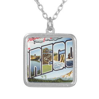 Greetings From Oregon Silver Plated Necklace