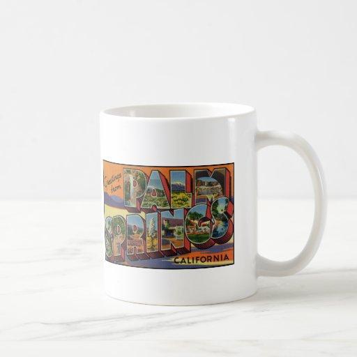 Greetings from Palm Springs California Basic White Mug