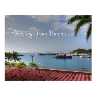 Greetings from Panama Canal, postcard