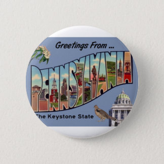 Greetings From Pennsylvania 2 Inch Round Button