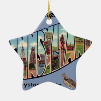Greetings From Pennsylvania Ceramic Ornament