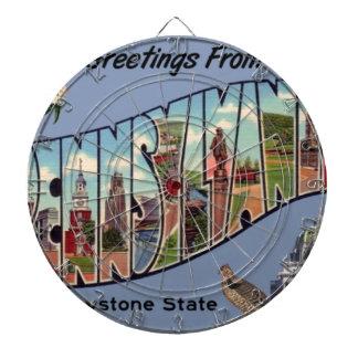 Greetings From Pennsylvania Dartboard