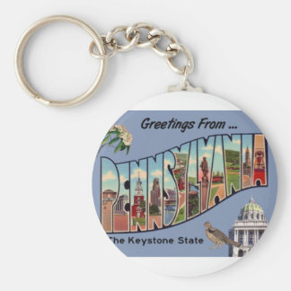Greetings From Pennsylvania Keychain