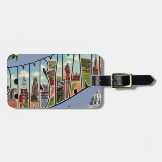 Greetings From Pennsylvania Luggage Tag