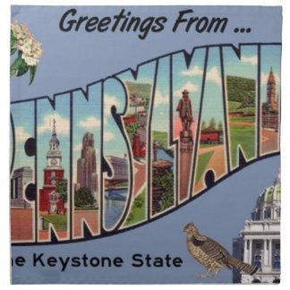 Greetings From Pennsylvania Napkin